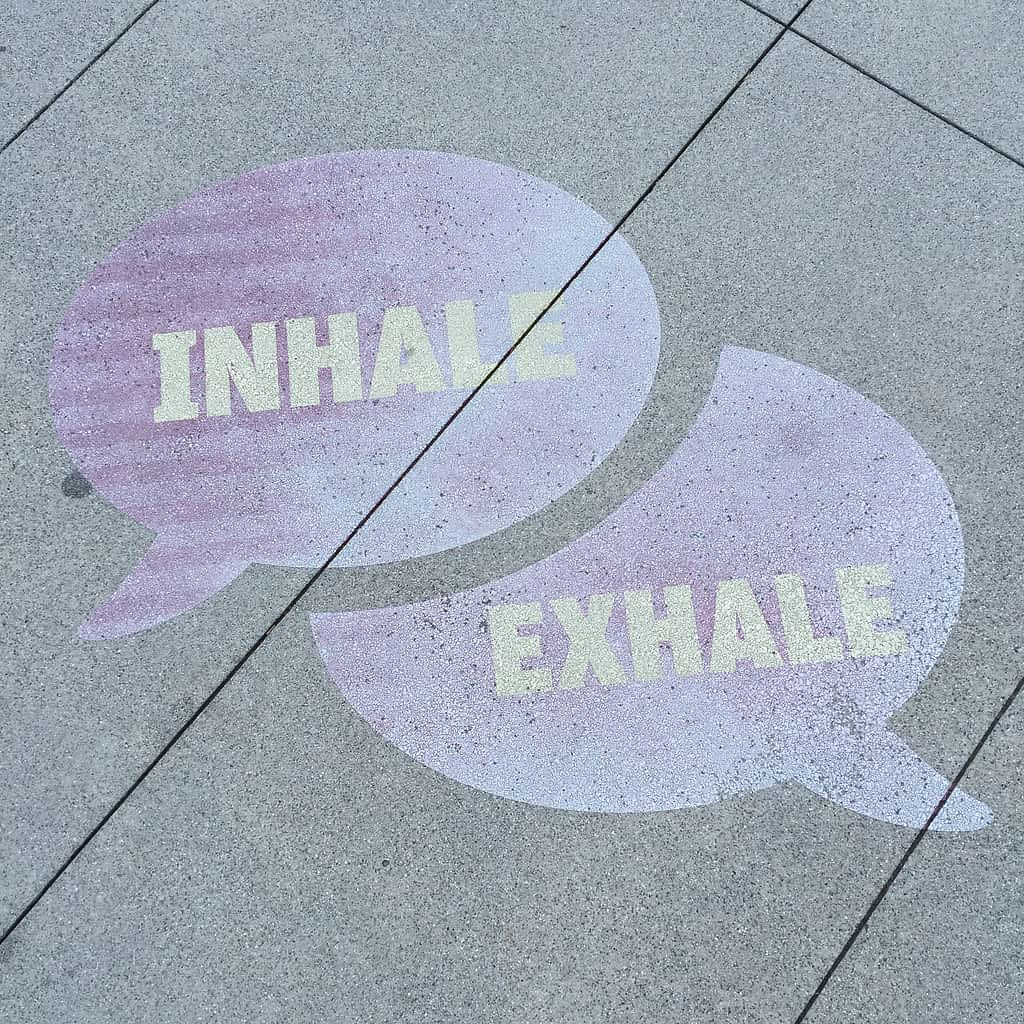 Street art inhale and exhale