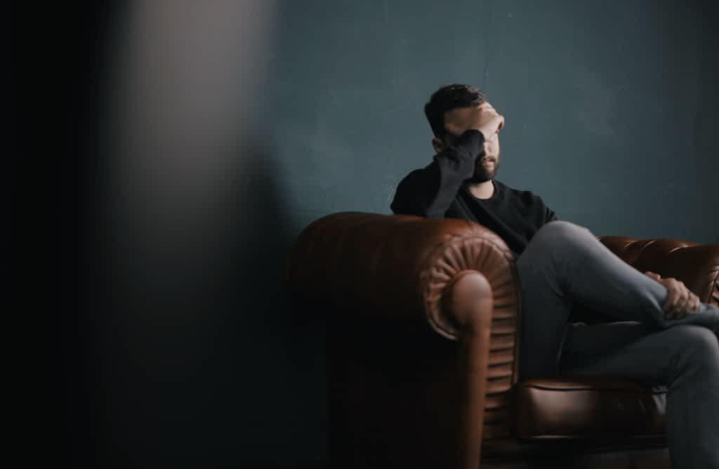 A man getting mental health services during coronavirus lockdown