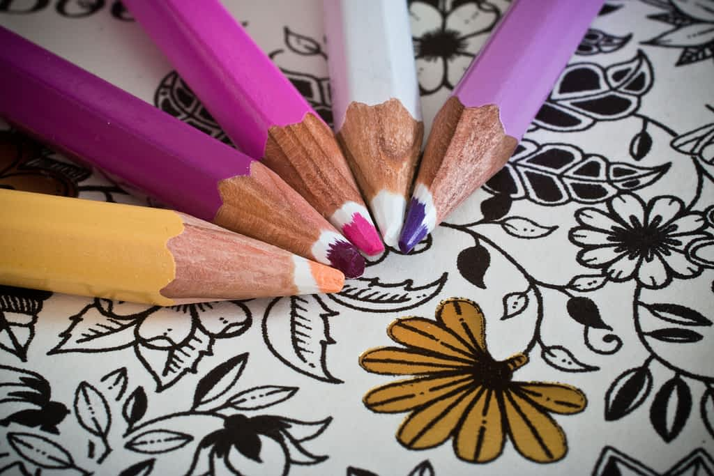 Coloring is one of the ways to reduce stress at work