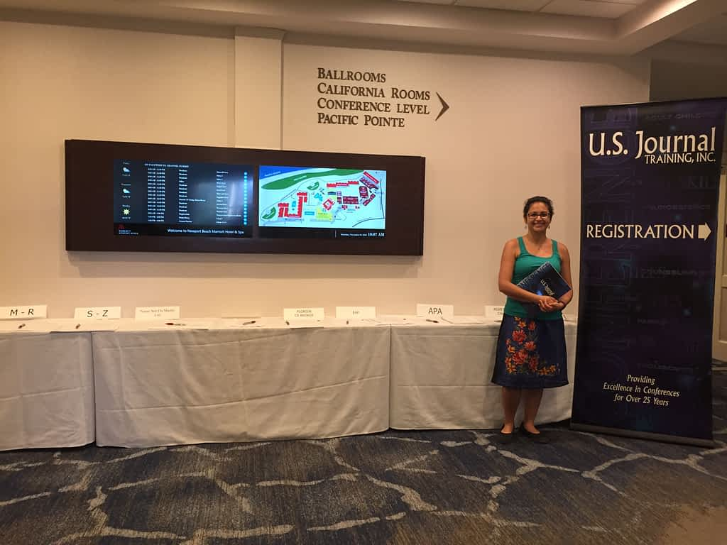 Pantea Rahimian at the U.S. Journal Training Conference